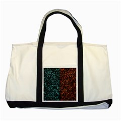 Square Pheonix Blue Orange Red Two Tone Tote Bag