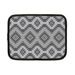 Triangle Wave Chevron Grey Sign Star Netbook Case (small)  by Mariart