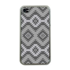 Triangle Wave Chevron Grey Sign Star Apple Iphone 4 Case (clear) by Mariart