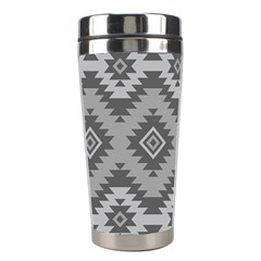 Triangle Wave Chevron Grey Sign Star Stainless Steel Travel Tumblers