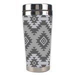 Triangle Wave Chevron Grey Sign Star Stainless Steel Travel Tumblers Left