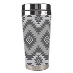 Triangle Wave Chevron Grey Sign Star Stainless Steel Travel Tumblers Right