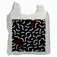 Toucan White Bluered Recycle Bag (one Side) by Mariart