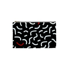 Toucan White Bluered Cosmetic Bag (small)  by Mariart