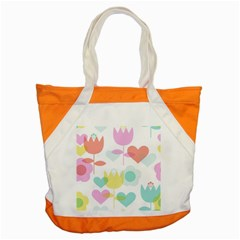 Tulip Lotus Sunflower Flower Floral Staer Love Pink Red Blue Green Accent Tote Bag by Mariart