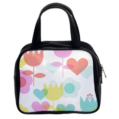 Tulip Lotus Sunflower Flower Floral Staer Love Pink Red Blue Green Classic Handbags (2 Sides) by Mariart