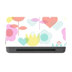 Tulip Lotus Sunflower Flower Floral Staer Love Pink Red Blue Green Memory Card Reader With Cf by Mariart