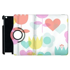 Tulip Lotus Sunflower Flower Floral Staer Love Pink Red Blue Green Apple Ipad 2 Flip 360 Case by Mariart
