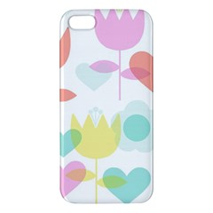 Tulip Lotus Sunflower Flower Floral Staer Love Pink Red Blue Green Iphone 5s/ Se Premium Hardshell Case by Mariart