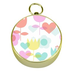 Tulip Lotus Sunflower Flower Floral Staer Love Pink Red Blue Green Gold Compasses by Mariart