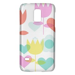 Tulip Lotus Sunflower Flower Floral Staer Love Pink Red Blue Green Galaxy S5 Mini by Mariart
