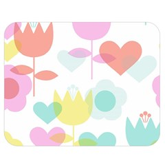 Tulip Lotus Sunflower Flower Floral Staer Love Pink Red Blue Green Double Sided Flano Blanket (medium)  by Mariart