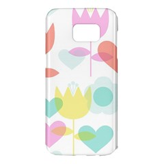 Tulip Lotus Sunflower Flower Floral Staer Love Pink Red Blue Green Samsung Galaxy S7 Edge Hardshell Case by Mariart