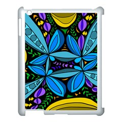 Star Polka Natural Blue Yellow Flower Floral Apple Ipad 3/4 Case (white) by Mariart