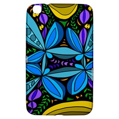 Star Polka Natural Blue Yellow Flower Floral Samsung Galaxy Tab 3 (8 ) T3100 Hardshell Case  by Mariart