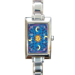 Sun Moon Star Space Vector Clipart Rectangle Italian Charm Watch by Mariart