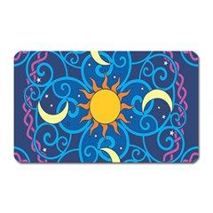 Sun Moon Star Space Vector Clipart Magnet (rectangular) by Mariart