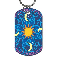 Sun Moon Star Space Vector Clipart Dog Tag (one Side) by Mariart