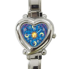 Sun Moon Star Space Vector Clipart Heart Italian Charm Watch by Mariart