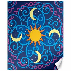 Sun Moon Star Space Vector Clipart Canvas 16  X 20   by Mariart