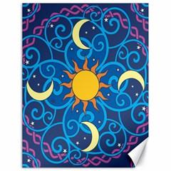 Sun Moon Star Space Vector Clipart Canvas 18  X 24   by Mariart