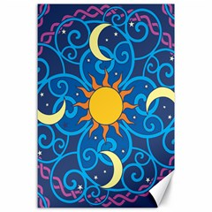 Sun Moon Star Space Vector Clipart Canvas 24  X 36  by Mariart