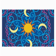 Sun Moon Star Space Vector Clipart Large Glasses Cloth (2 Side) by Mariart