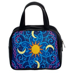 Sun Moon Star Space Vector Clipart Classic Handbags (2 Sides) by Mariart