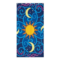 Sun Moon Star Space Vector Clipart Shower Curtain 36  X 72  (stall)  by Mariart