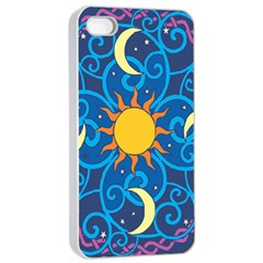 Sun Moon Star Space Vector Clipart Apple Iphone 4/4s Seamless Case (white) by Mariart