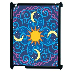 Sun Moon Star Space Vector Clipart Apple Ipad 2 Case (black) by Mariart