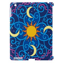 Sun Moon Star Space Vector Clipart Apple Ipad 3/4 Hardshell Case (compatible With Smart Cover) by Mariart