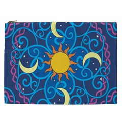 Sun Moon Star Space Vector Clipart Cosmetic Bag (xxl)  by Mariart