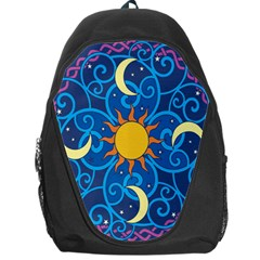 Sun Moon Star Space Vector Clipart Backpack Bag by Mariart