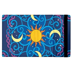 Sun Moon Star Space Vector Clipart Apple Ipad 3/4 Flip Case by Mariart