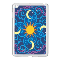 Sun Moon Star Space Vector Clipart Apple Ipad Mini Case (white) by Mariart