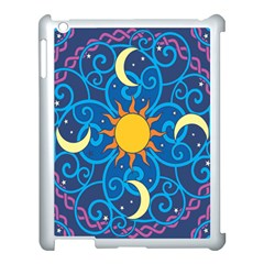Sun Moon Star Space Vector Clipart Apple Ipad 3/4 Case (white) by Mariart