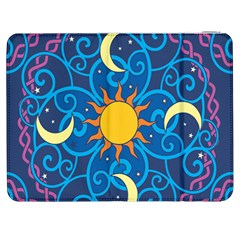 Sun Moon Star Space Vector Clipart Samsung Galaxy Tab 7  P1000 Flip Case by Mariart