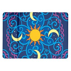 Sun Moon Star Space Vector Clipart Samsung Galaxy Tab 10 1  P7500 Flip Case by Mariart