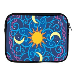 Sun Moon Star Space Vector Clipart Apple Ipad 2/3/4 Zipper Cases by Mariart