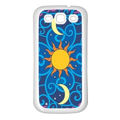 Sun Moon Star Space Vector Clipart Samsung Galaxy S3 Back Case (white) by Mariart