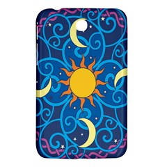 Sun Moon Star Space Vector Clipart Samsung Galaxy Tab 3 (7 ) P3200 Hardshell Case  by Mariart