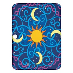 Sun Moon Star Space Vector Clipart Samsung Galaxy Tab 3 (10 1 ) P5200 Hardshell Case  by Mariart