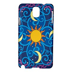 Sun Moon Star Space Vector Clipart Samsung Galaxy Note 3 N9005 Hardshell Case by Mariart