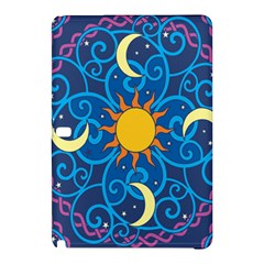 Sun Moon Star Space Vector Clipart Samsung Galaxy Tab Pro 10 1 Hardshell Case by Mariart