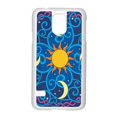 Sun Moon Star Space Vector Clipart Samsung Galaxy S5 Case (white) by Mariart