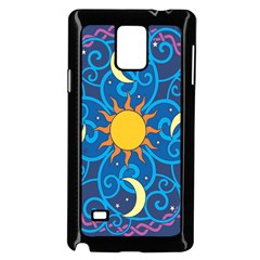 Sun Moon Star Space Vector Clipart Samsung Galaxy Note 4 Case (black) by Mariart
