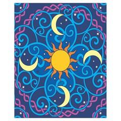 Sun Moon Star Space Vector Clipart Drawstring Bag (small) by Mariart