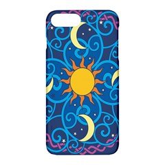Sun Moon Star Space Vector Clipart Apple Iphone 7 Plus Hardshell Case by Mariart