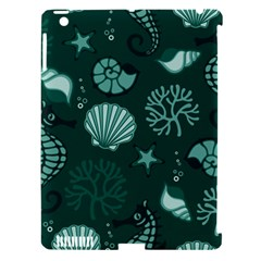 Vector Seamless Pattern With Sea Fauna Seaworld Apple Ipad 3/4 Hardshell Case (compatible With Smart Cover) by Mariart